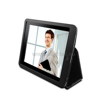Чехол кожаный черный (для iPad, в комлекте матовая пленка для защиты экрана)
