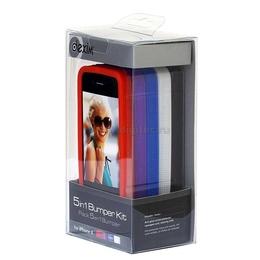 Bumper case (для iPhone 4, набор из 5 штук, черный, белый, синий, фиолет, красный)