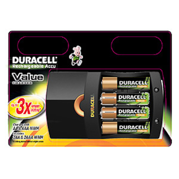 Зарядное устройство Duracell CEF14 Special Offer (сетевое, для 4х AA/AAA, в комплекте 2AAx1700mAh и 2AAAx750mAh)