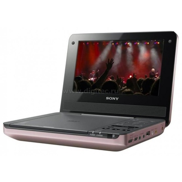 "Sony DVP-FX730 Pink (7"""" MP3, DivX, ПДУ, автоадаптер, автономная работа до 5 ч)"