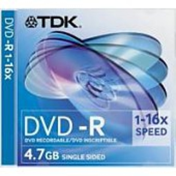 Диск DVD-R TDK Slim Case 1шт (4.7GB, 16x)