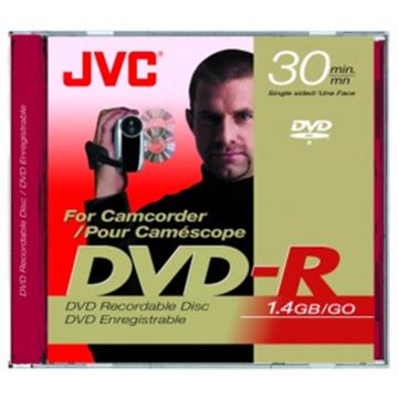 miniDVD-RW JVC Jewel Case 5шт (1.4GB, 2x, Inkjet Printable, 30мин)