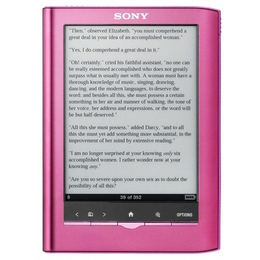 "Электронная книга Sony PRS-350PC Pink Pocket Edition (5"", 600x800, 1.4Gb, 155gr)"