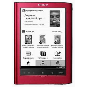 "Sony PRS-650RC Red Touch Edition (6"", 600x800, 1.4Gb, 215gr, touchscreen, слот для карт)"