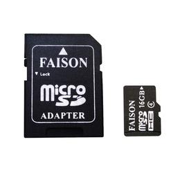 MicroSDHC 16Гб Faison Класс 4 (адаптер)