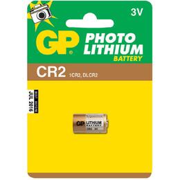 Батарейка GP CR2-BC1 (литиевая, CR2, 1 шт., в блистере, 1/10/450, срок хранения 7 лет)