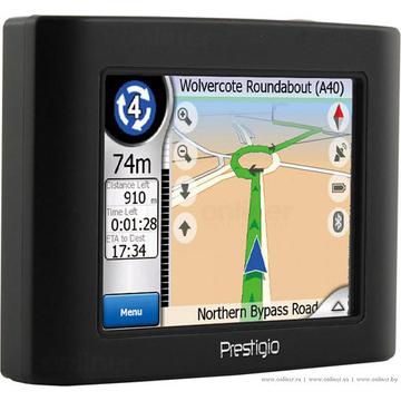 "GPS-навигатор Prestigio Geovision 350 (Atlas II 300, 16 каналов, экран 3.5"", 300Mhz, 256MB, MP3/Video, детализированные карты РФ)"