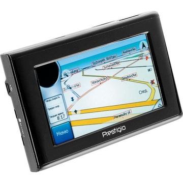"GPS-навигатор Prestigio Geovision 430 (SiRF Star III, 20 каналов, экран 4.3"", 400Mhz, 1GB, MP3/Video карты РФ, Европа)"