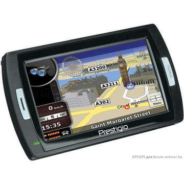 "GPS-навигатор Prestigio GeoVision 450BT (IGO 2008, экран 4,3"", 64MB + 1GB, Bluetooth, карты РФ, Европа)"