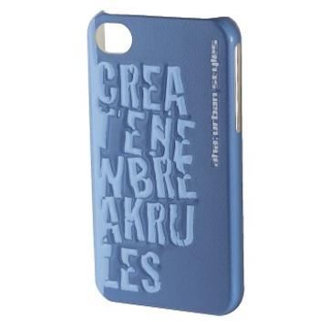 Футляр Hama aha: Croom 3D Blue (для iPhone4/4S, пластик, H-103455)