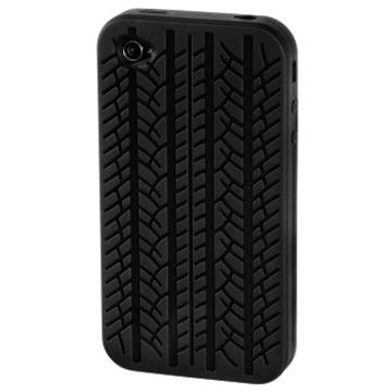 Футляр Hama Tire Black (для iPhone 4/4S, силикон, H-104576)