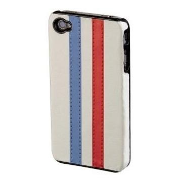 Футляр Hama Stripe White/Blue/Red (для iPhone4, пластик)