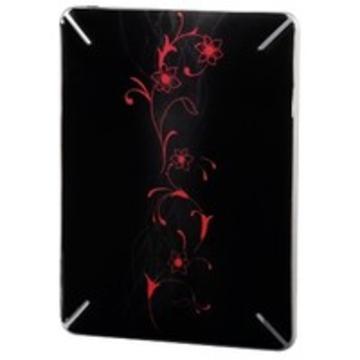 """Пленка защитная Hama Growing Flower Black (для корпуса iPad, 9.7"""", самоклеящаяся, с орнаментом, H-106309)"""