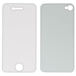 Пленка защитная Hama (для задней/передней панели iPhone 4, антибликовая, прозрачная, H-106623)