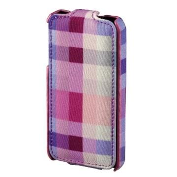 Чехол Hama Flap Case Karo Pink (для iPhone 4/4S, пластик, H-106733)