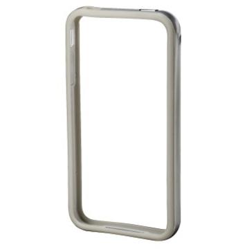 Бампер Hama Edge Protector Silver (для iPhone 4/4S, пластик, доступ ко всем кнопкам, H-106762)