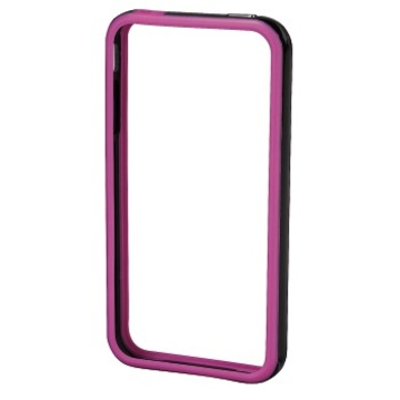 Бампер Hama Edge Protector Black Pink (для iPhone 4/4S, пластик, доступ ко всем кнопкам, H-106765)