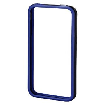 Бампер Hama Edge Protector Black Blue (для iPhone 4/4S, пластик, доступ ко всем кнопкам, H-106766)