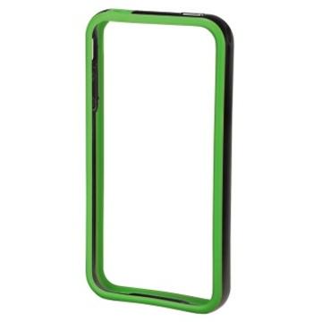 Бампер Hama Edge Protector Black Green (для iPhone 4/4S, пластик, доступ ко всем кнопкам, H-106767)