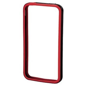 Бампер Hama Edge Protector Black Red (для iPhone 4/4S, пластик, доступ ко всем кнопкам, H-106768)