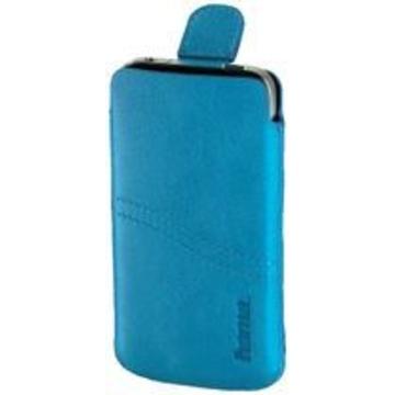 Чехол Hama Blue (для iPhone 4/4S, кожа, язычок для извлечения, H-107104)