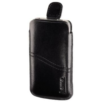 Чехол Hama Black (для iPhone4/4S, кожа, язычок для извлечения, H-107105)