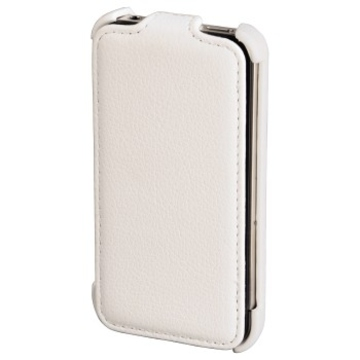 Чехол Hama Flap Case White (для iPhone4, кожа, H-107109)