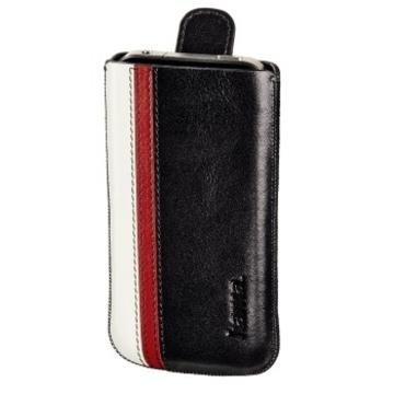 Чехол Hama Wallet Black (кожа, цветная отделка, язычок для извлечения, H-107111)