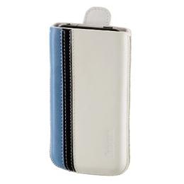 Чехол Hama Wallet White (для iPhone4, кожа, цветная отделка, язычок для извлечения, H-107112)