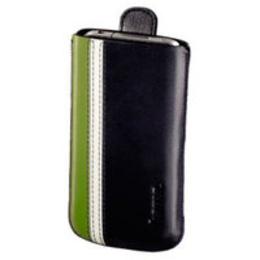 Чехол Hama Black Green (для iPhone4, кожа, язычок для извлечения, H-107113)