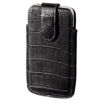 Чехол Hama Croco Black (для iPhone4/4S, иск. кожа, H-107114)
