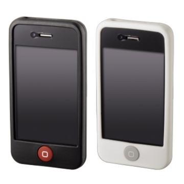 Футляр Hama Skin Black White (для iPhone 4, силикон, набор 2шт, H-107125)