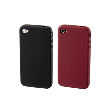 Футляр Hama Skin Black Red (для iPhone 4, силикон, набор 2шт, H-107126)