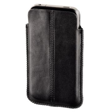 Чехол Hama Sleeve Black (для iPhone 4, кожа, H-107131)