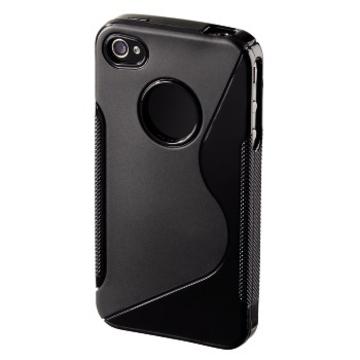 Футляр Hama TPU Combi Case Black (футляр для iPhone 4, гибкий пластик, H-107143)