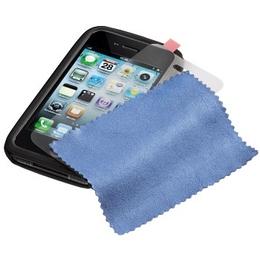 Комплект Hama Gel Skin Grey (комлект из футляра/пленки/салфетки из микрофибры, для iPhone4, H-107154)