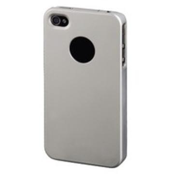 Футляр Hama Rubber Silver (для iPhone4, прорезиненный, пластик, H-107197)