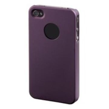 Футляр Hama Rubber Purple (для iPhone4, прорезиненный, пластик, H-107199)