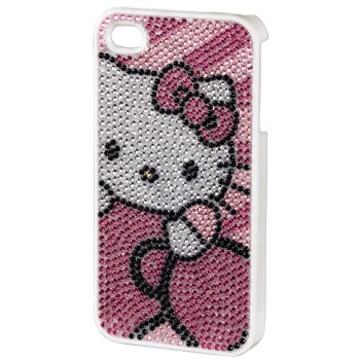 Футляр Hama Hello Kitty Pink (для iPhone4/4S, пластик, стразы, H-107320)