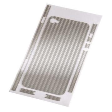 Пленка защитная Hama Carbon Silver (для задней/боковой панели iPhone 4, H-108151)
