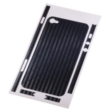 Пленка защитная Hama Carbon Blue (для задней/боковой панели iPhone 4, H-108152)