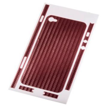 Пленка защитная Hama Carbon Red (для задней/боковой панели iPhone 4, H-108153)
