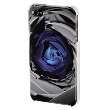 Футляр Hama Rose Blue (для iPhone4, доступ ко всем кнопкам, 3D рисунок, пластик, H-108507)