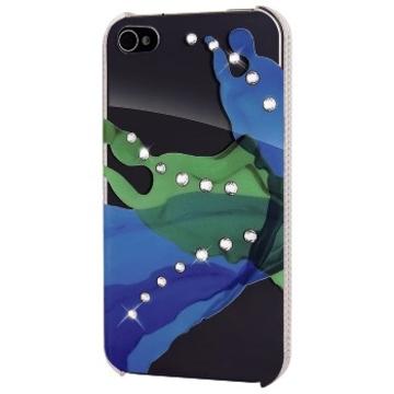 Футляр Hama Liquids Green (для iPhone4/4S, украшен кристаллами Swarowski, White Diamonds, пластик, H-108514)
