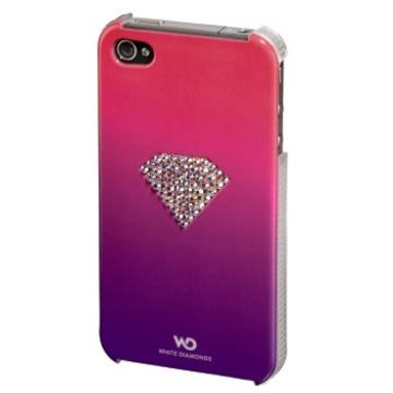 Футляр Hama Rainbow Pink (для iPhone4/4S, украшен кристаллами Swarowski, White Diamonds, пластик, H-108517)