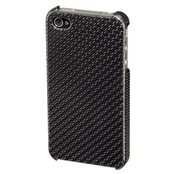 Футляр Hama Carbon Grey (для iPhone 4/4S, пластик, H-108521)