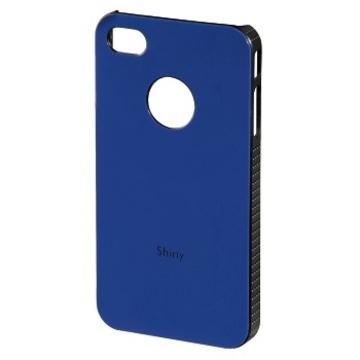 Футляр Hama Shiny Blue (для iPhone 4/4S, пластик, H-108545)