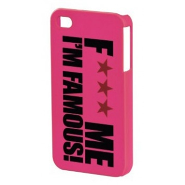 "Футляр Hama FMIF Pink (для iPhone4, F*** ME I""M FAMOUS, H-108588)"