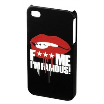 "Футляр Hama FMIF Lip Black (для iPhone 4/4S, F*** ME I""M FAMOUS, H-108591)"