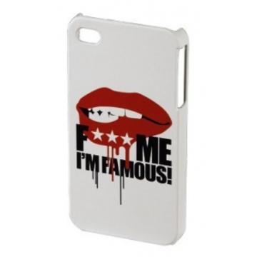 "Футляр Hama FMIF Lip White (для iPhone 4/4S, F*** ME I""M FAMOUS, H-108592)"